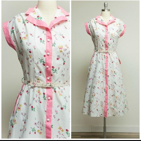 Vintage Dresses & Skirts - 1950s novelty dress